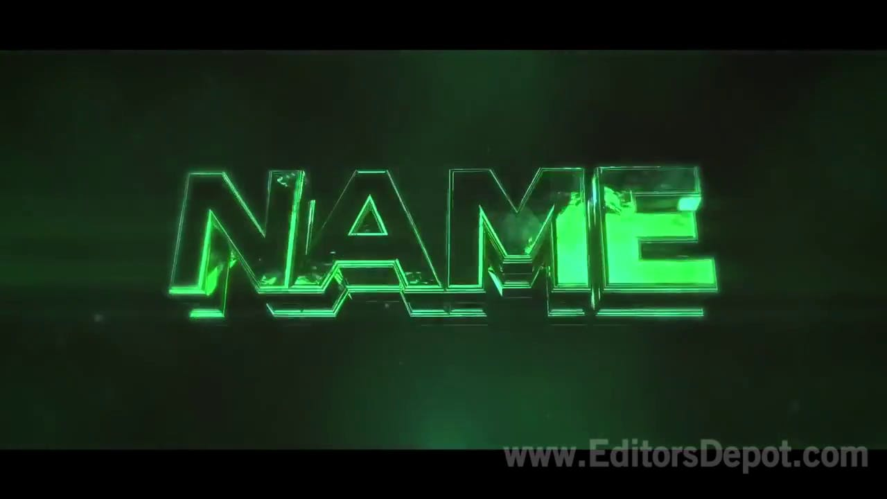 Glossy Green Sync 3D Intro Template Full Tutorial