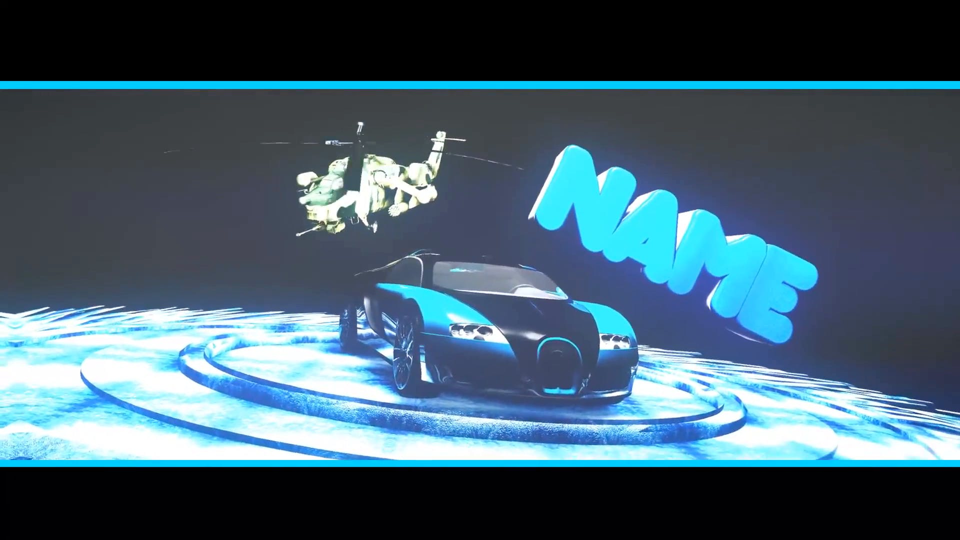 FREE Bugatti Veyron 3D Intro Template Cinema 4D After Effects