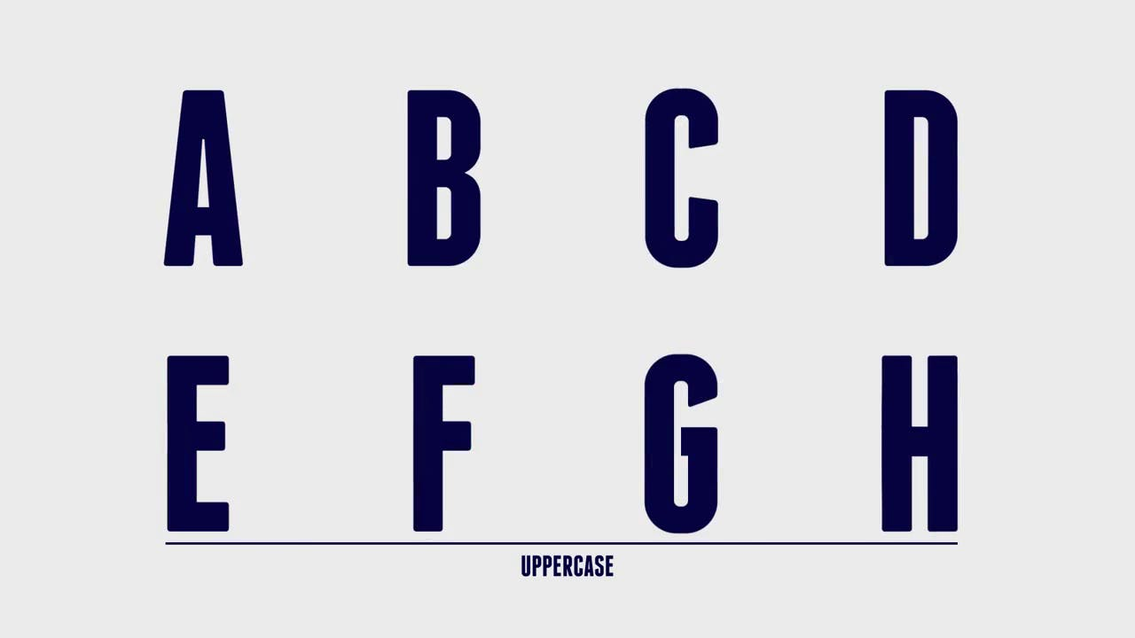 Franchise Animated Typeface After Effects Template
