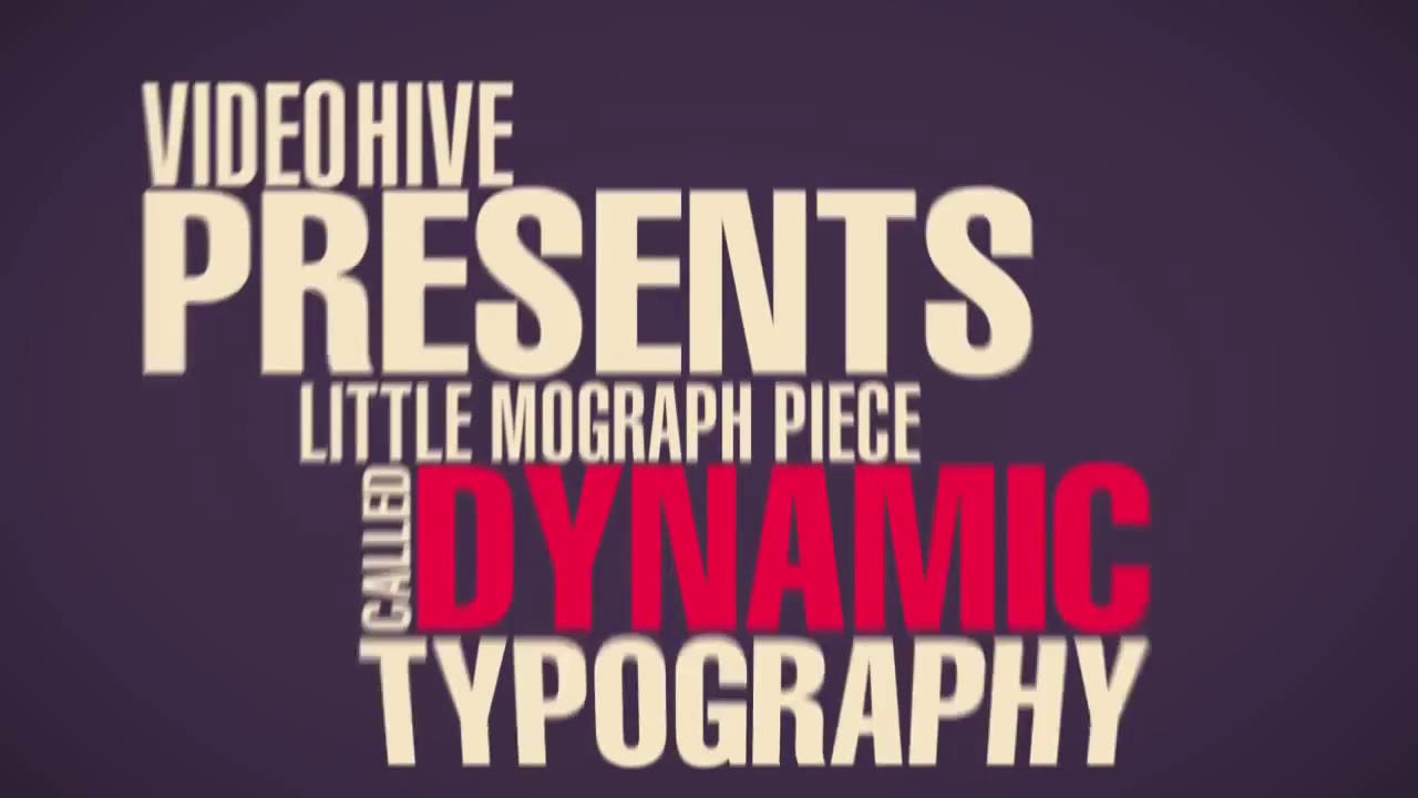 FREE Dynamic Typography Template Adobe After Effects