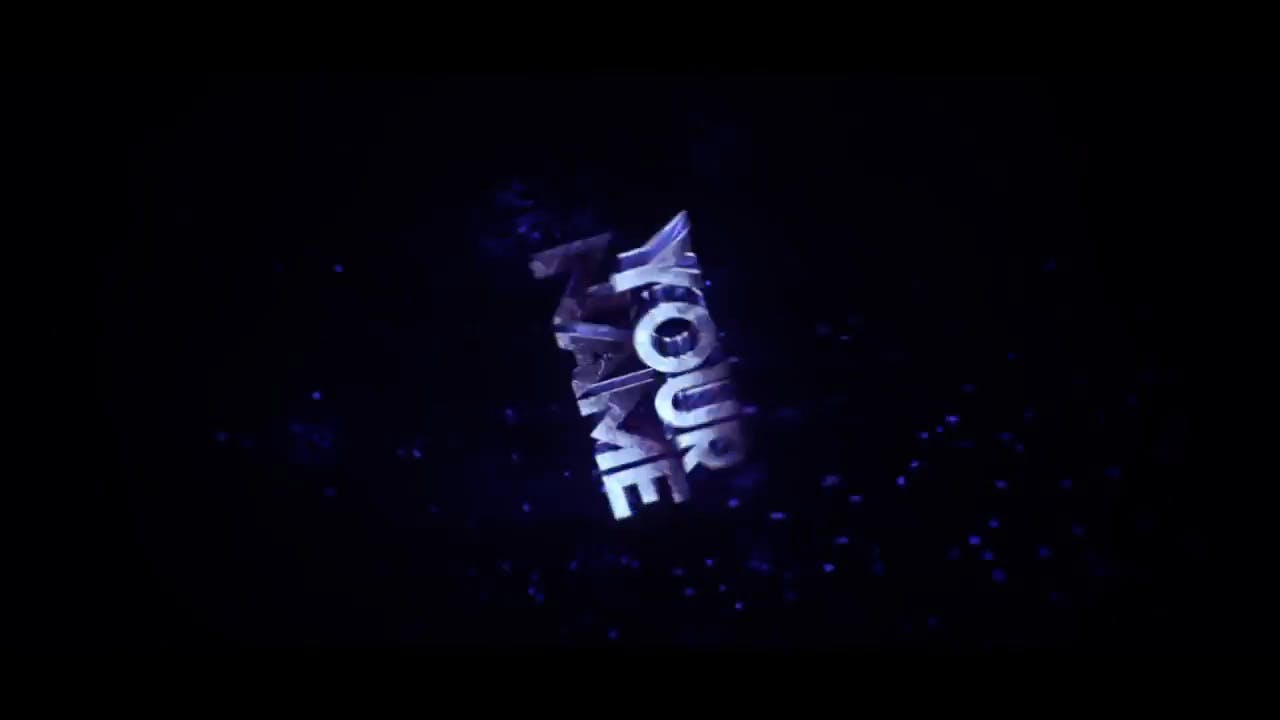 FREE 3D Blue Sync Cinema 4D After Effects Template