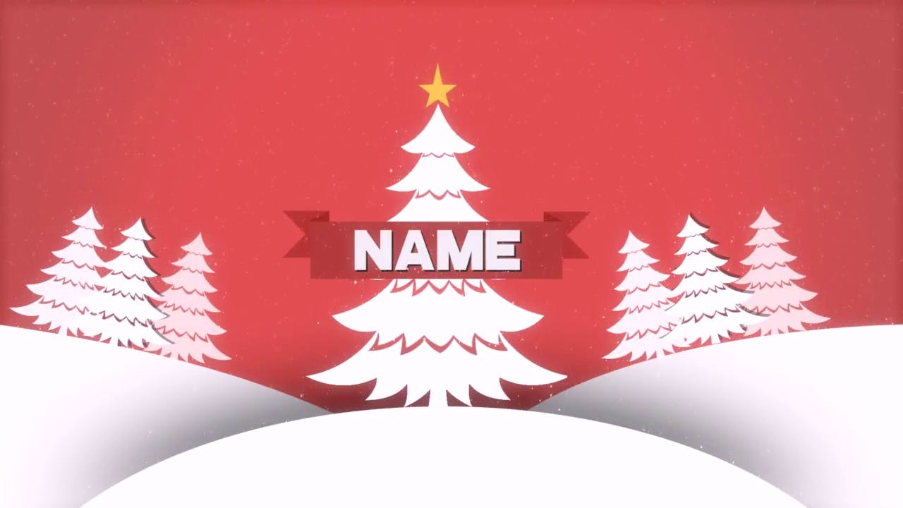 Christmas After Effects 2D Intro Template FREE DOWNLOAD