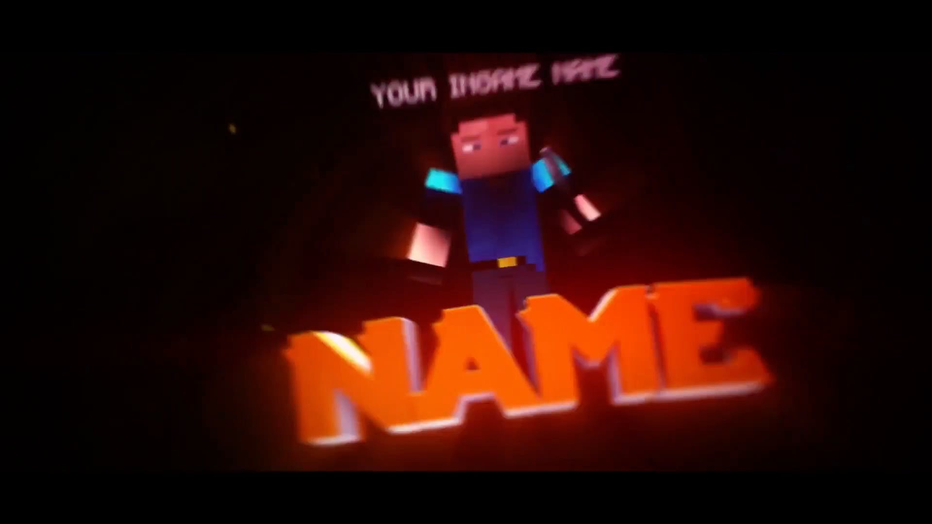 Minecraft Multi Color 3D Intro Template Cinema 4D After Effects FREE DOWNLOAD