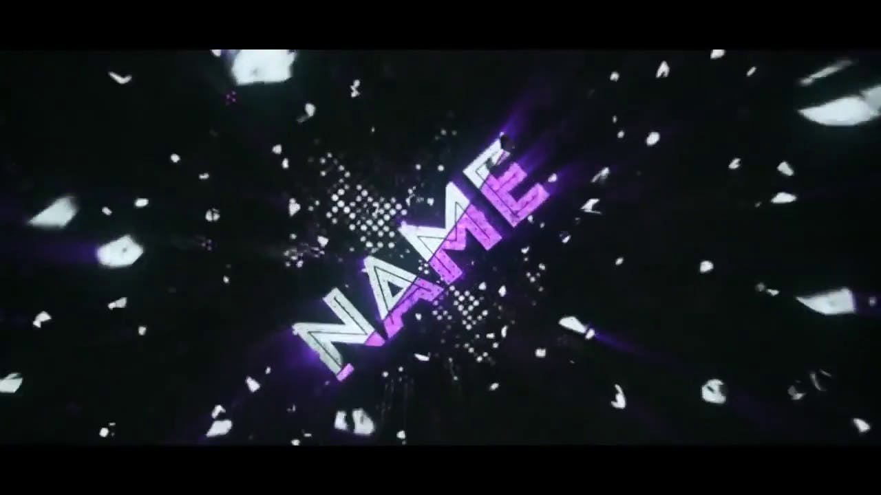 FREE White Purple Particles Intro Template Cinema 4D After Effects