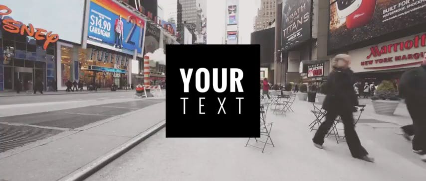 Glitchy 2D After Effects ONLY Template New York