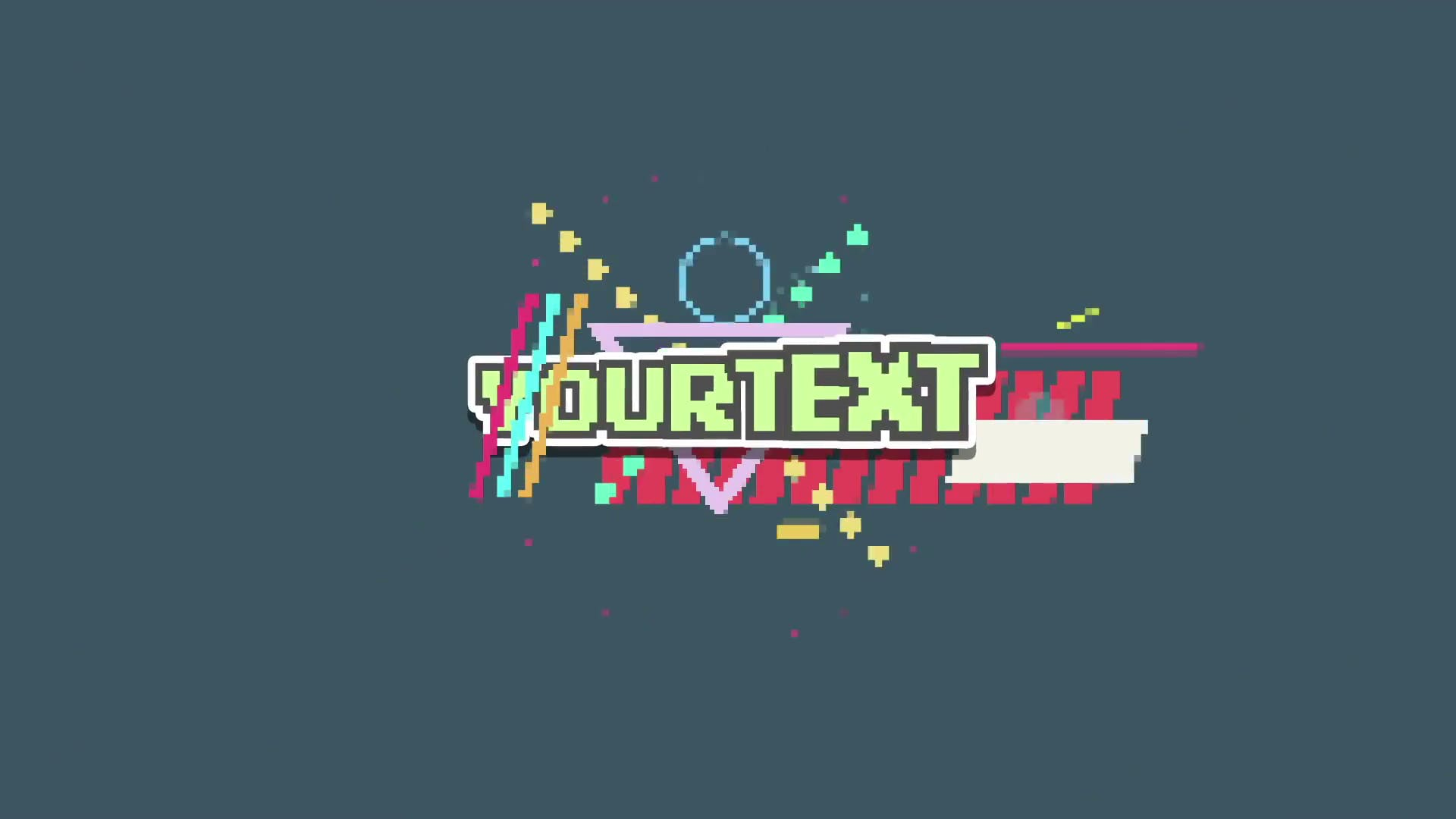 2d 8 bit after effects intro template free download