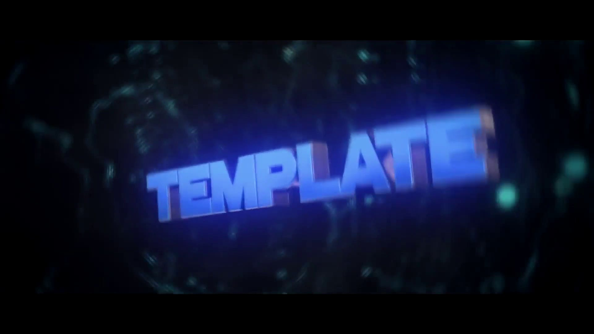 Trap Style Blue Cinema 4D After Effects Intro Template