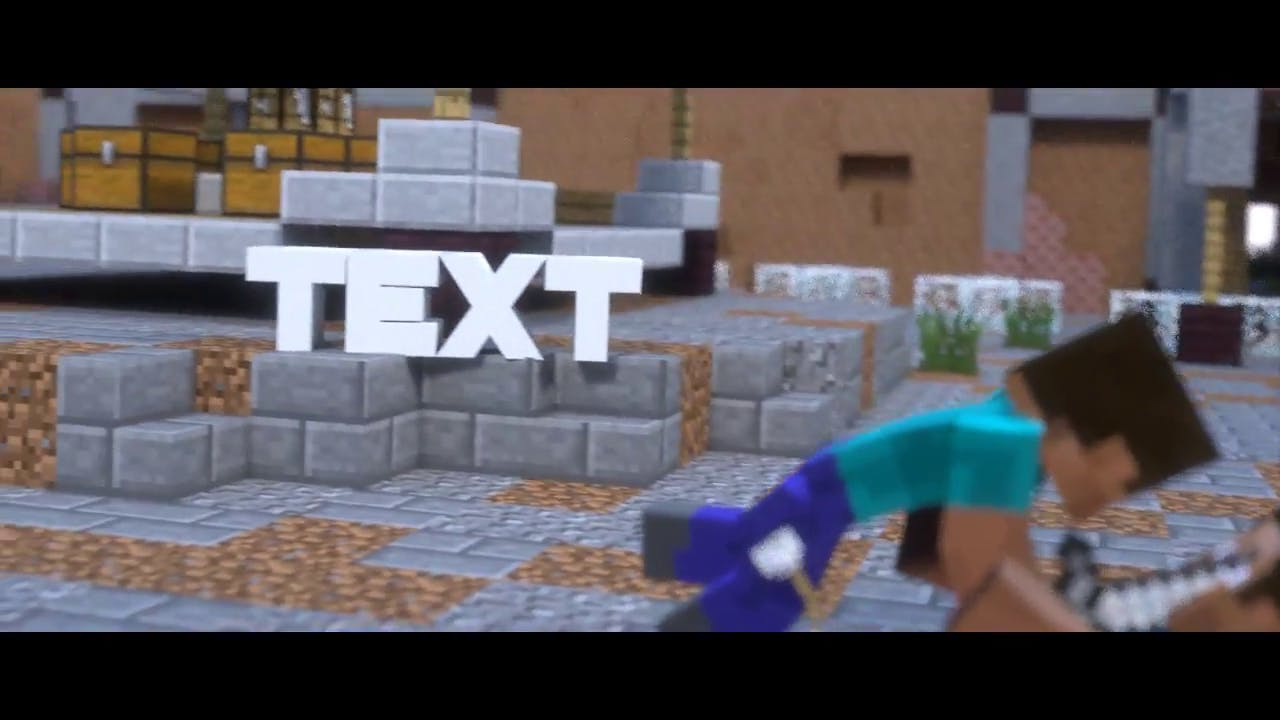 AMAZING Blender Minecraft Intro Template FREE DOWNLOAD