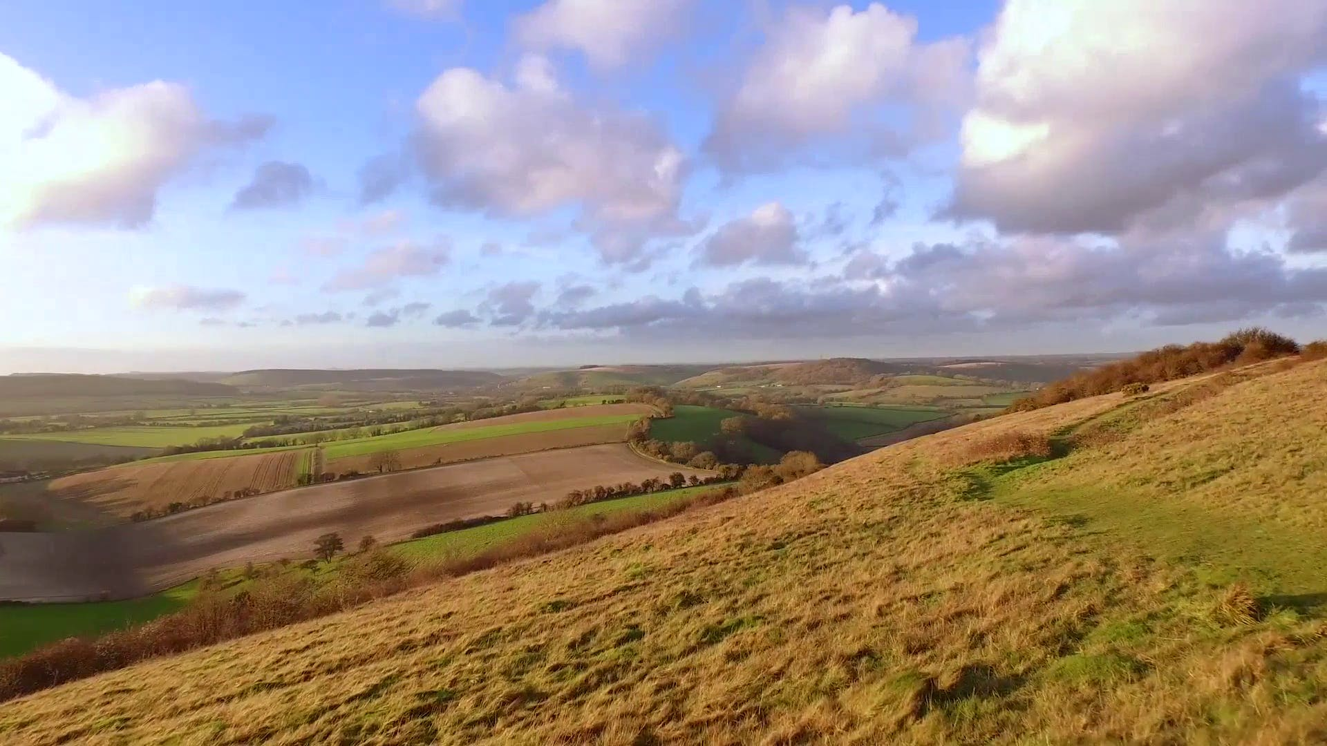 British Countryside Aerial Stoock footage video