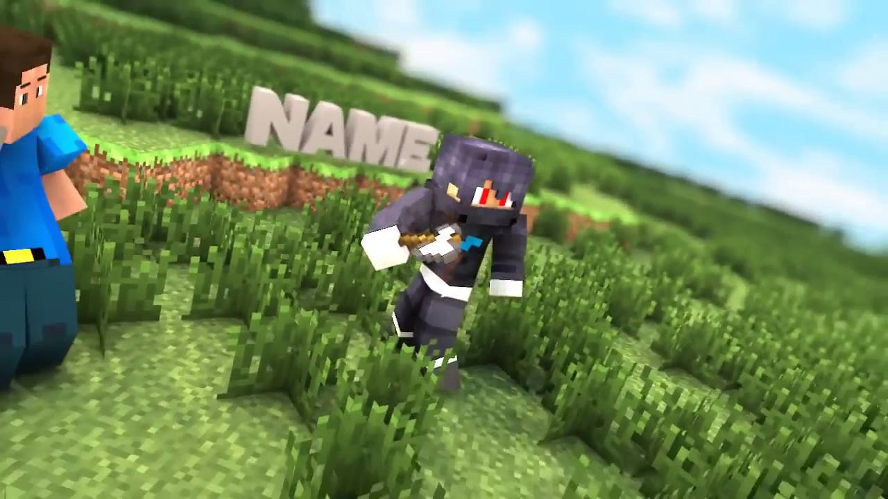 Minecraft Cinema 4D After Effects Intro Template Free
