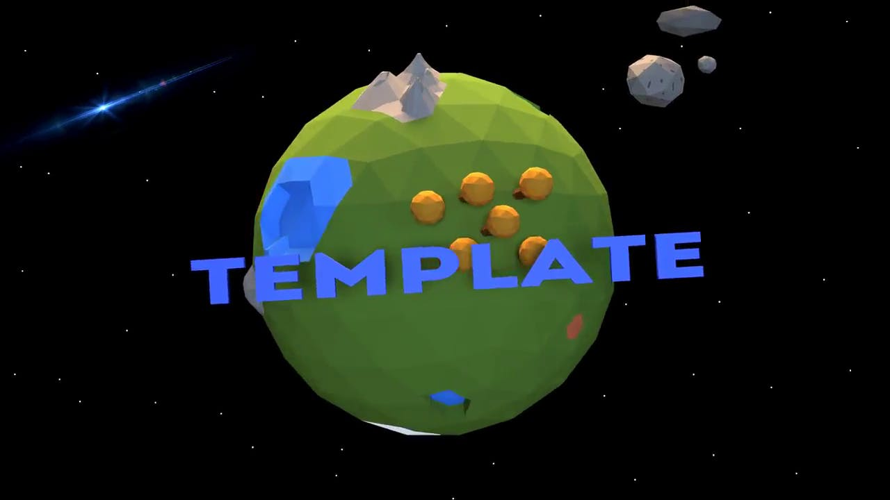 Free Low Poly Globe Blender ONLY Intro Template FREE DOWNLOAD
