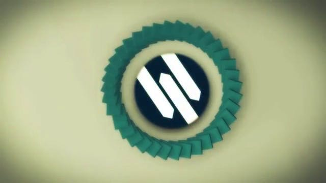 After Effects Dominoes Effect Logo Reveal