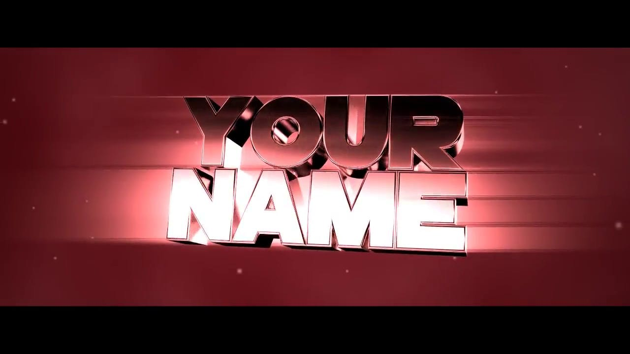 Red Chrome Chill Blender Intro Template FREE DOWNLOAD