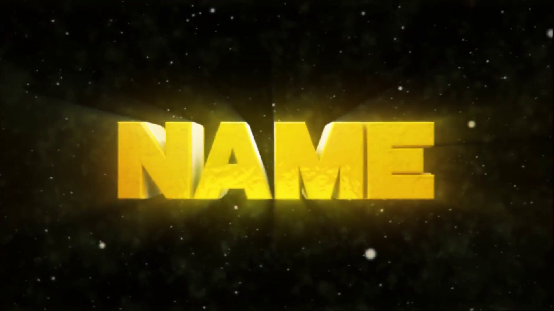 Bold Yellow Cinema 4D After Effects Intro Template FREE DOWNLOAD