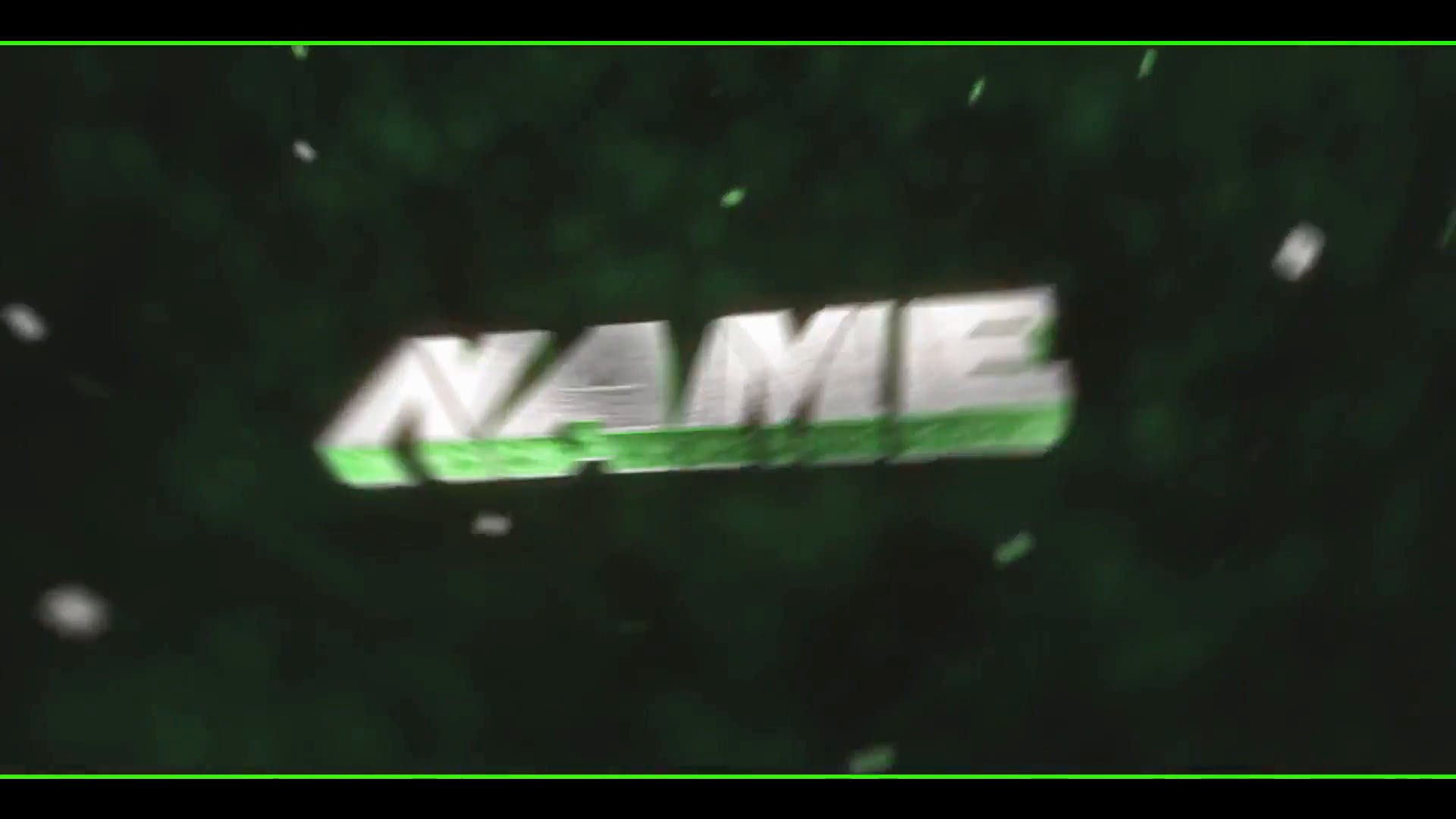Green Space Particles Intro Template Cinema 4D After Effects FREE DOWNLOAD
