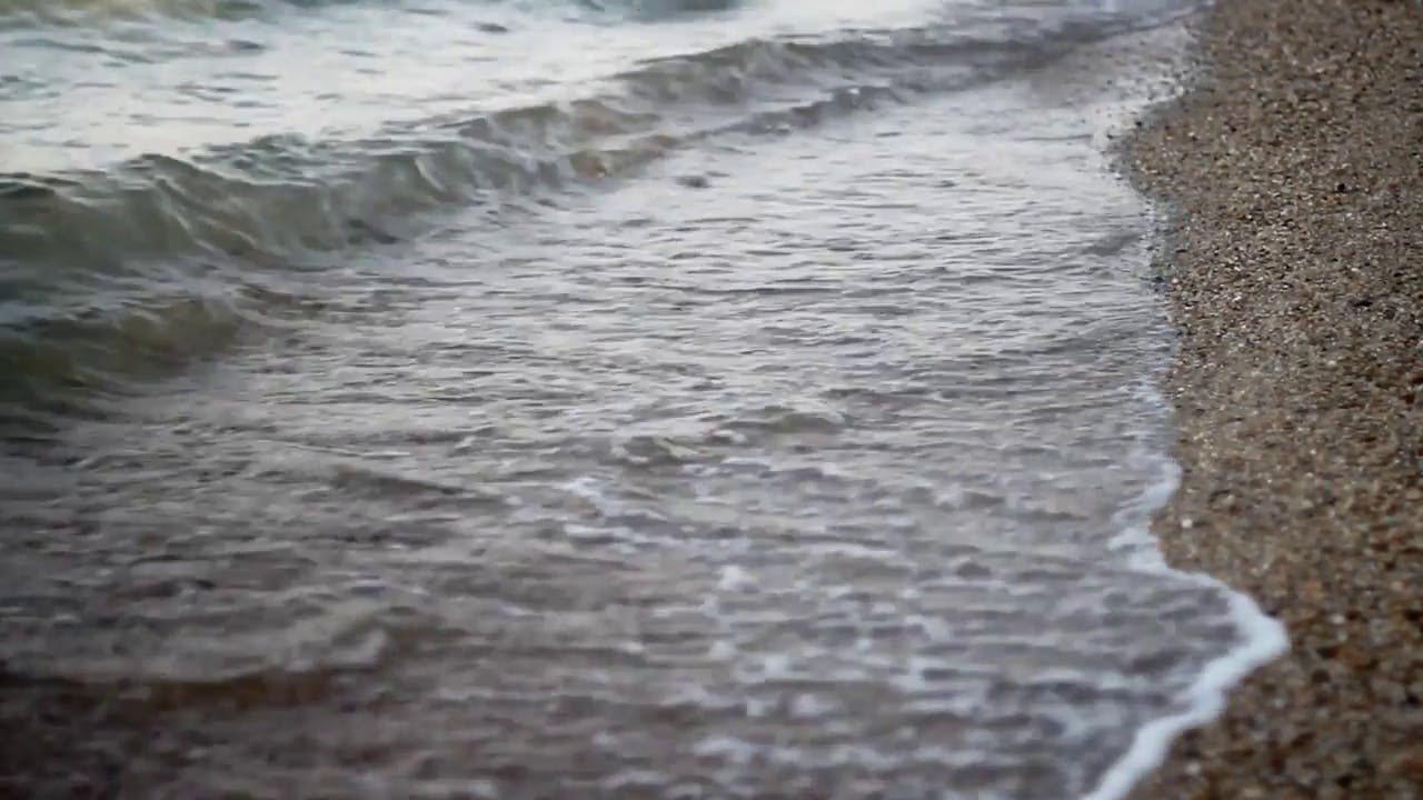 Calming Sea Waves stock video