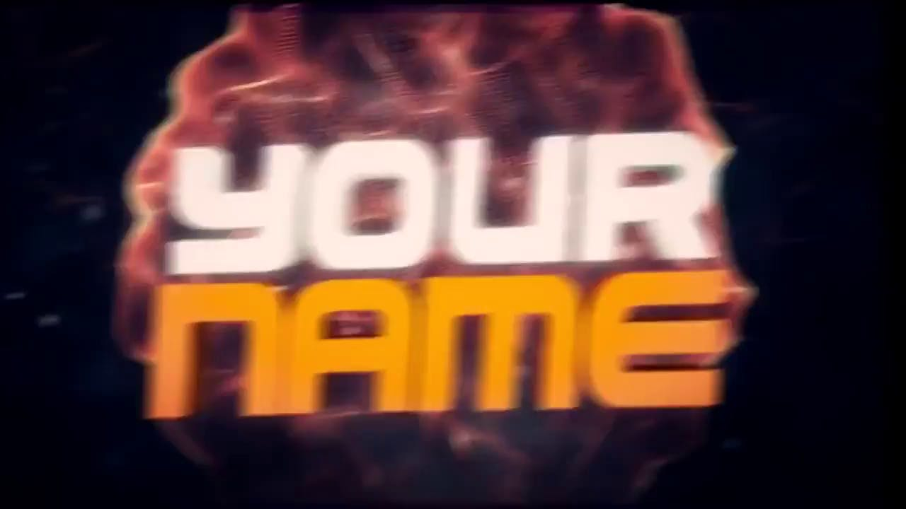 Yellow 3D Blast Minecraft Intro Template (C4D & AE)