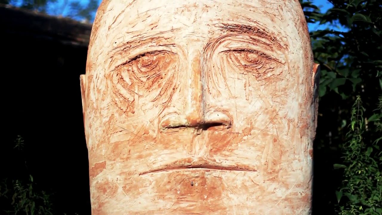 Ancient Face Sculpture Free stock footage