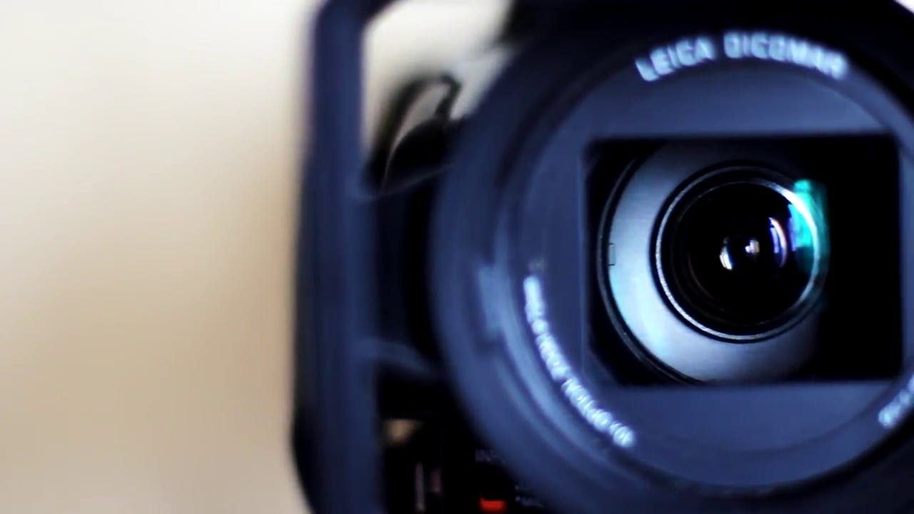 Broadcast Video Camera stock footage