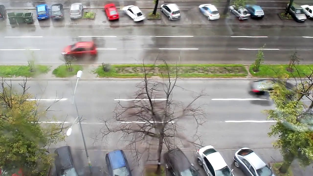 Cars Passing by Time Lapse Video Free stock footage