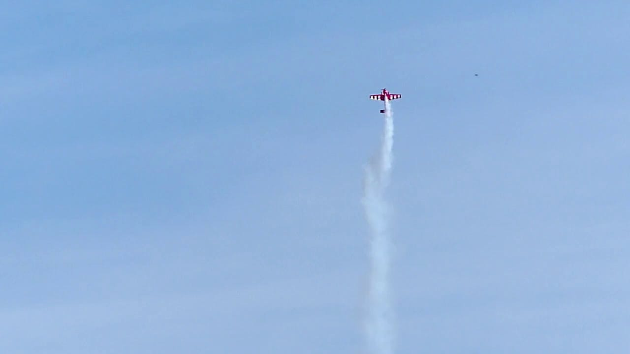 Aerobatic competitions stock footage
