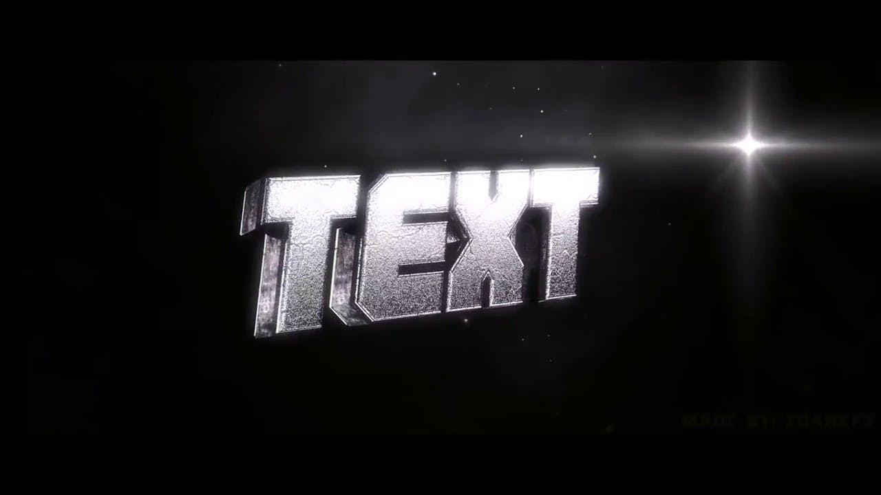 Spinning Chrome Text 3D Intro Template