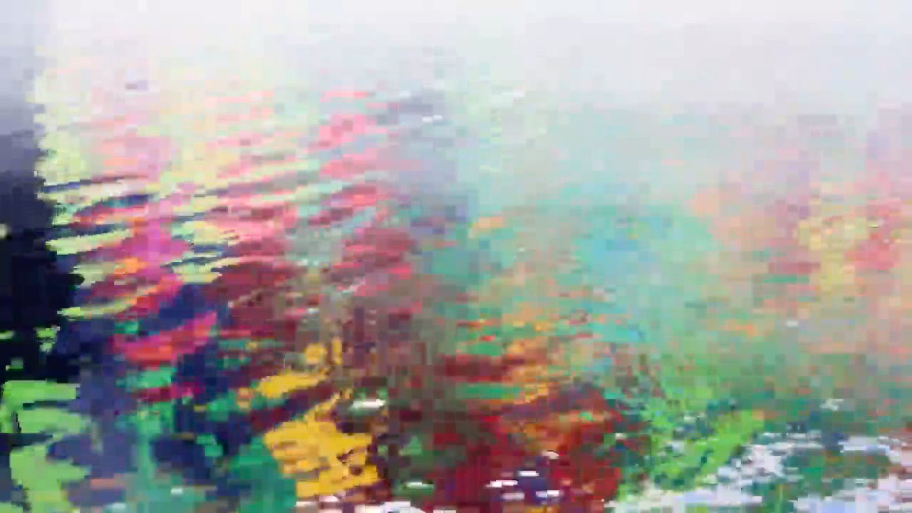 Colorful Reflections in water Stock Footage