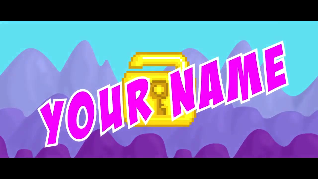 Yellow Purple Simple Gaming 2D Intro Template FREE DOWNLOAD