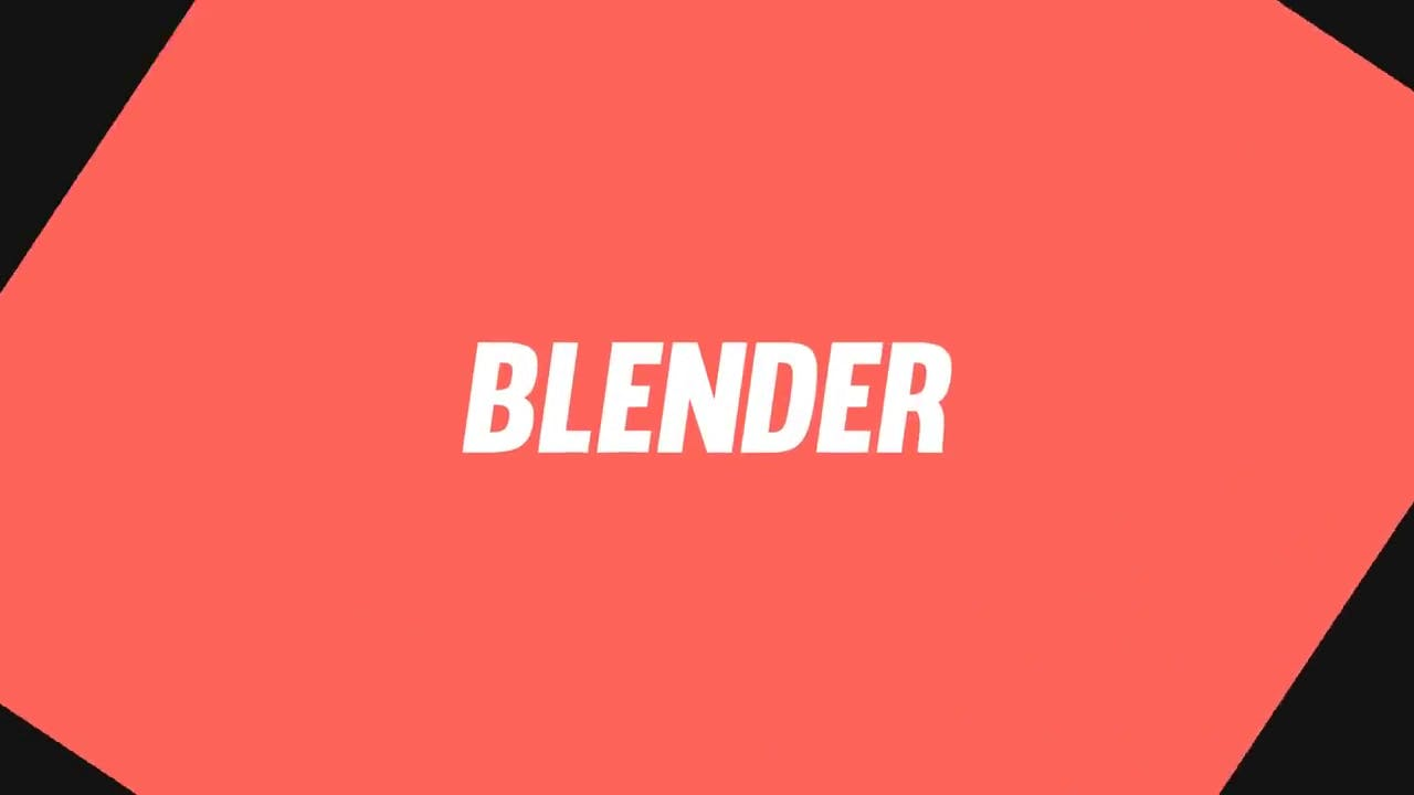 Flat 2D Blender ONLY Intro Template FREE DOWNLOAD