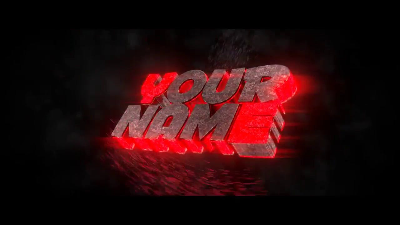 Red and purple 3D Blender only intro template