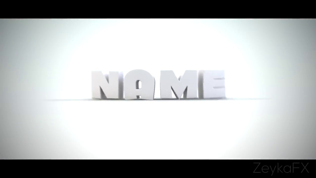 Free White Clean hip hop Intro template