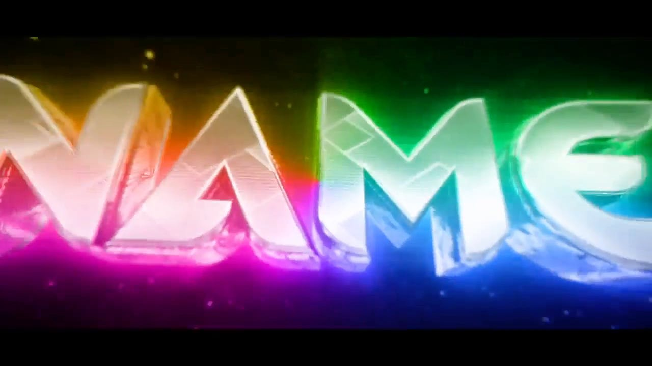 Colorful rainbow themed 3D intro template AE C4D