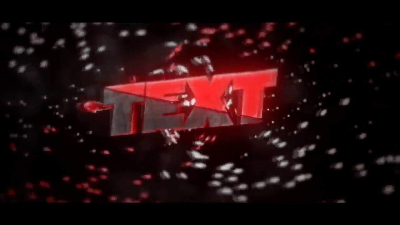 Hardcore red 3D intro template After Effects and Cinema 4D Intro