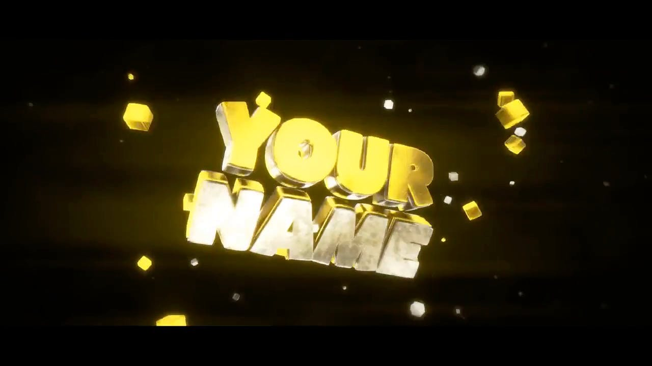 Multicolor 3D Intro template Blender only EDM intro template