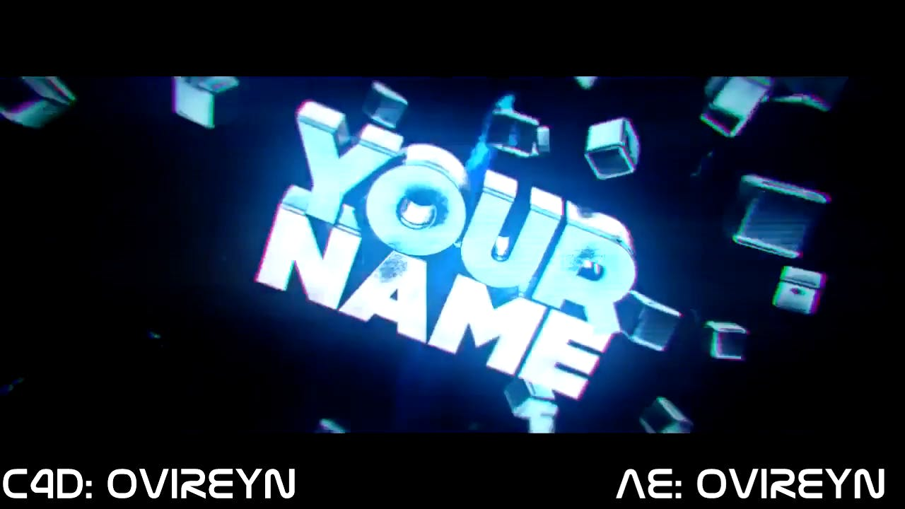 Blue 3D Intro template Dual After Effects and Cinema 4D Intro
