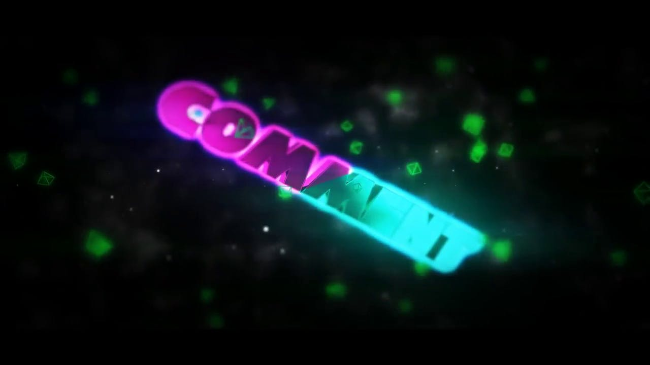 Free chill multicolor 3D outro template no editing required