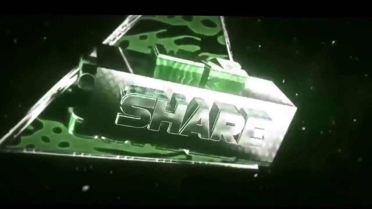 Hip Hop style green 3D outro template No editing required